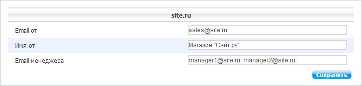 "Настройки модуля ""Интернет-магазин"""